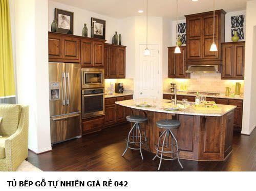 tủ bếp gỗ tự nhiên giá rẻ 042