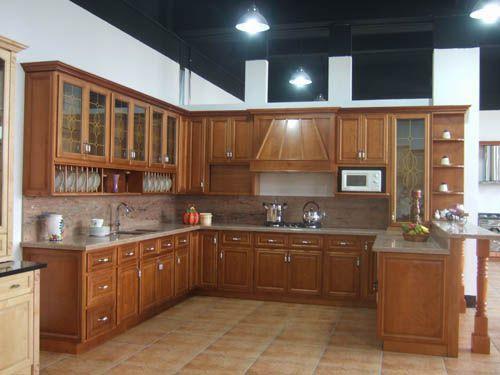 tủ bếp gỗ tự nhiên giá rẻ 046