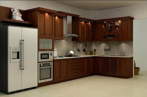 tủ bếp gỗ tự nhiên giá rẻ 050