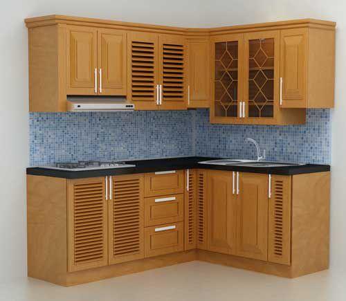 Kệ bếp gỗ tự nhiên 003
