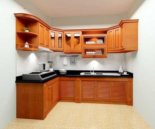 Kệ bếp gỗ tự nhiên 005