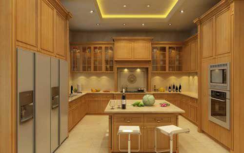 Kệ bếp gỗ tự nhiên 007