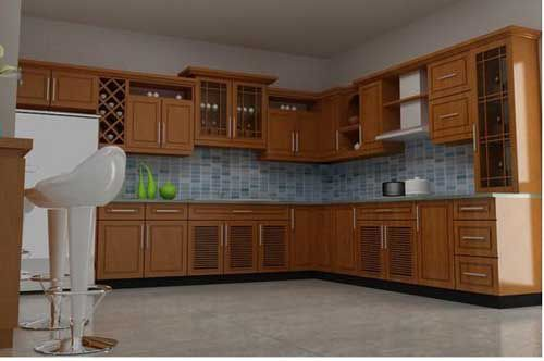 Kệ bếp gỗ tự nhiên 008