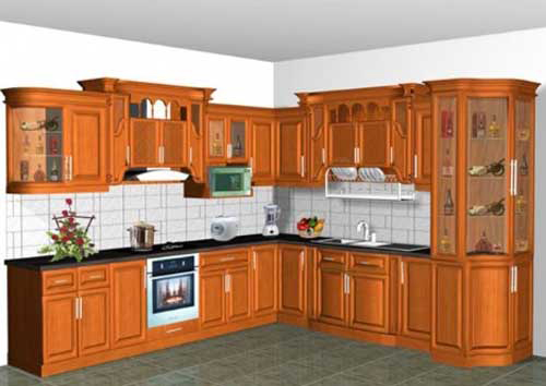 Kệ bếp gỗ tự nhiên 051