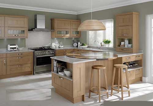Kệ bếp gỗ tự nhiên 055