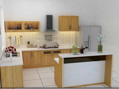 Kệ bếp gỗ tự nhiên 057