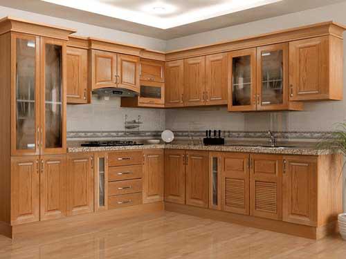 Kệ bếp gỗ tự nhiên 059