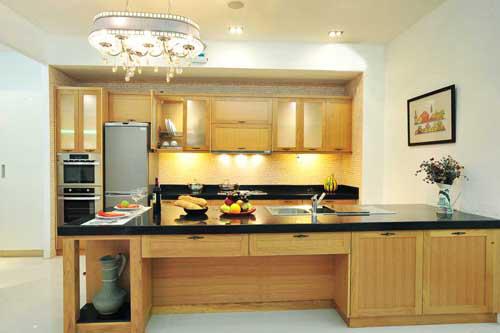 Kệ bếp gỗ tự nhiên 060