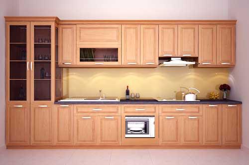 Kệ bếp gỗ tự nhiên 061