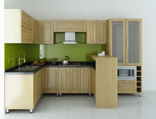 Kệ bếp gỗ tự nhiên 062