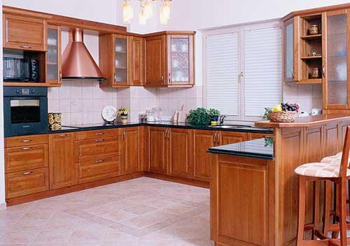 Kệ bếp gỗ tự nhiên 065