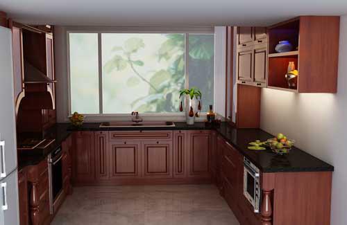 Kệ bếp gỗ tự nhiên 066