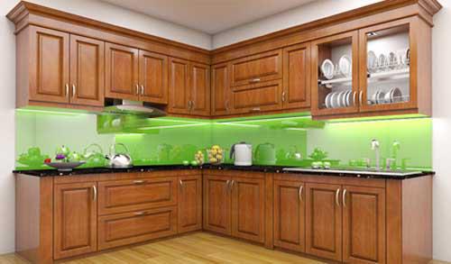 Kệ bếp gỗ tự nhiên 073
