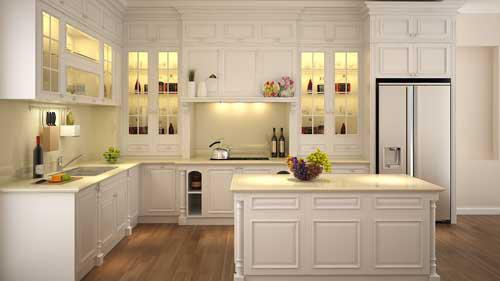 Kệ bếp gỗ tự nhiên 074