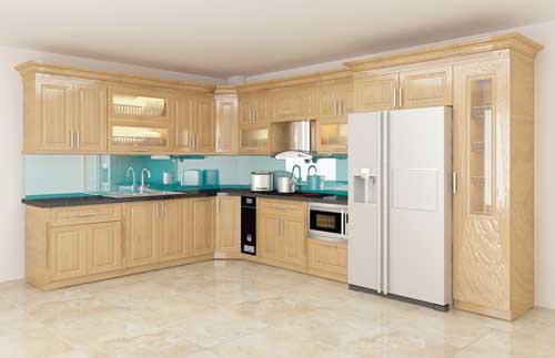 Kệ bếp gỗ tự nhiên 090