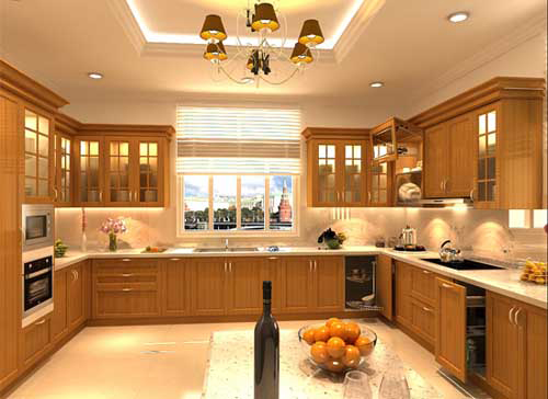 Kệ bếp gỗ tự nhiên 093