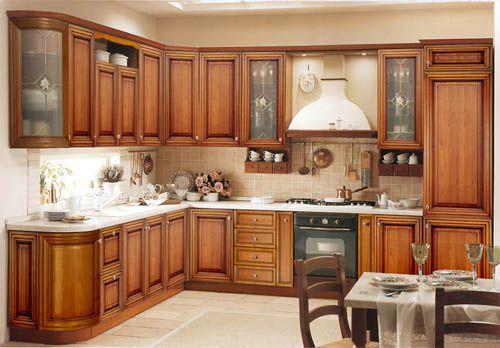 Tủ bếp gỗ tự nhiên 002