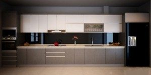 Tủ Bếp Gỗ Công Nghiệp 018C