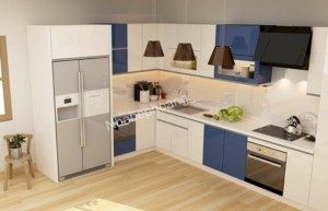 Tủ Bếp Gỗ Công Nghiệp 022C