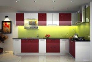 Tủ Bếp Gỗ Công Nghiệp 041C