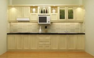 Tủ Bếp Gỗ Rẻ Đẹp 003D