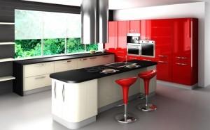 Tủ Bếp Gỗ Rẻ Đẹp 009D