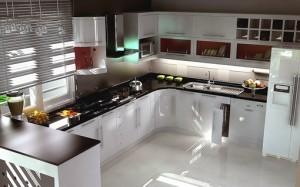 Tủ Bếp Gỗ Rẻ Đẹp 011D