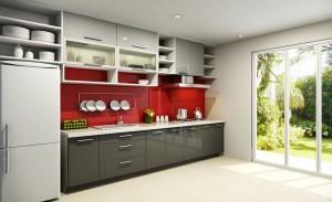 Tủ Bếp Gỗ Rẻ Đẹp 015D