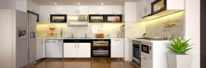 Tủ Bếp Gỗ Rẻ Đẹp 019D