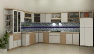 Tủ Bếp Gỗ Rẻ Đẹp 020D