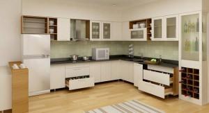 Tủ Bếp Gỗ Rẻ Đẹp 022D