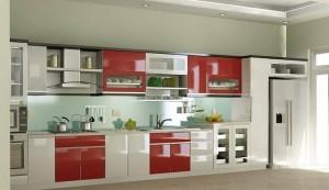 Tủ Bếp Gỗ Rẻ Đẹp 027D