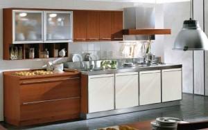 Tủ Bếp Gỗ Rẻ Đẹp 033D