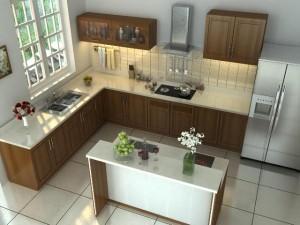Tủ Bếp Gỗ Rẻ Đẹp 036D