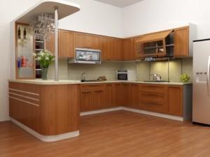 Tủ Bếp Gỗ Rẻ Đẹp 038D