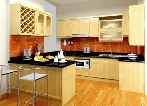 Tủ Bếp Gỗ Rẻ Đẹp 039D