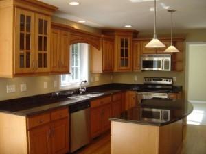 Tủ Bếp Gỗ Rẻ Đẹp 040D