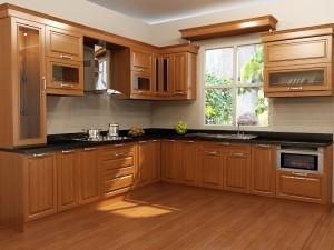 Tủ Bếp Gỗ Rẻ Đẹp 041D