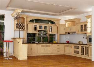Tủ Bếp Gỗ Rẻ Đẹp 045D