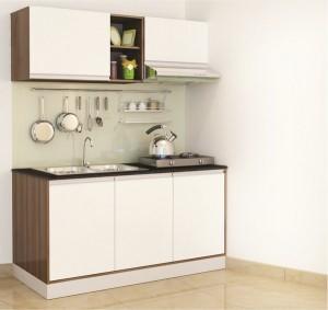 Tủ Bếp Gỗ Rẻ Đẹp 048D