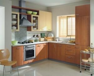Tủ Bếp Gỗ Rẻ Đẹp 049D