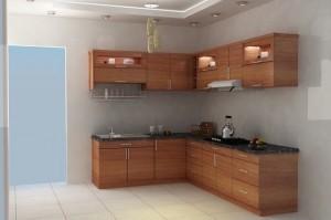 Tủ Bếp Gỗ Rẻ Đẹp 053D
