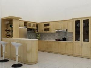 Tủ Bếp Gỗ Rẻ Đẹp 054D
