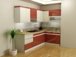 Tủ Bếp Gỗ Rẻ Đẹp 055D