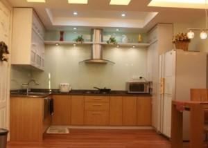 Tủ Bếp Gỗ Rẻ Đẹp 061D