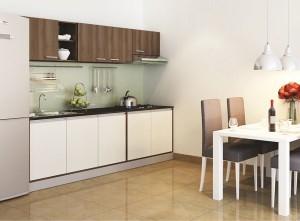 Tủ Bếp Gỗ Rẻ Đẹp 062D