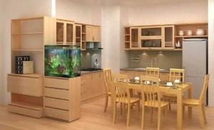 Tủ Bếp Gỗ Rẻ Đẹp 065D
