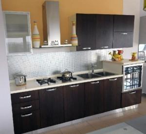 Tủ Bếp Gỗ Rẻ Đẹp 072D