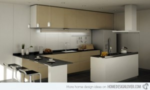 Tủ Bếp Gỗ Rẻ Đẹp 074D