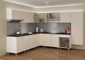 Tủ Bếp Gỗ Rẻ Đẹp 075D